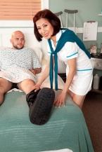 Nurse Kim heals the sick, fucks the mountainous hard-on