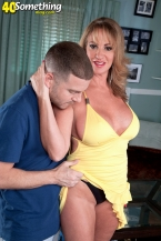 Hot SEXY HOUSEWIFE licks cum off a table