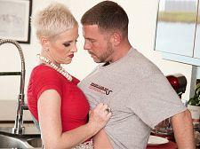 Kimber screws the plumber. Her partner watches.