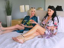 In daybed with Leah L'Amour and Rita Daniels