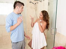 Brandii takes a shower with her son's unsurpassable friend